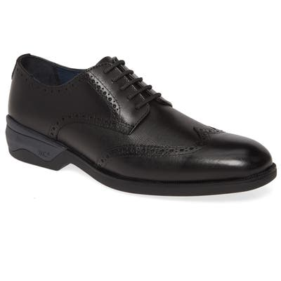 Johnston & Murphy Elkins Waterproof Wingtip Derby- Black