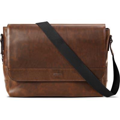 Shinola Navigator Leather Messenger Bag - Brown