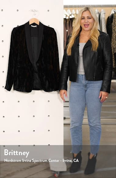 Macey Crushed Velvet Blazer, sales video thumbnail