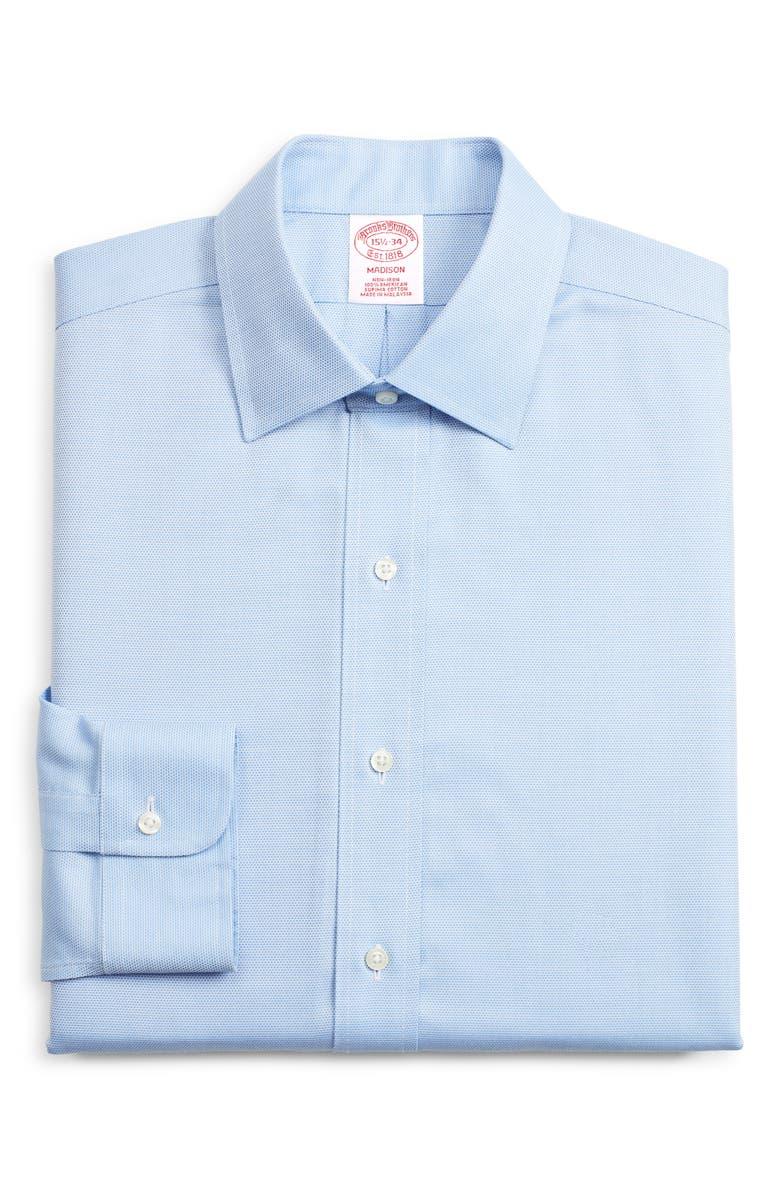 BROOKS BROTHERS Madison Classic Fit Print Dress Shirt, Main, color, BLUE