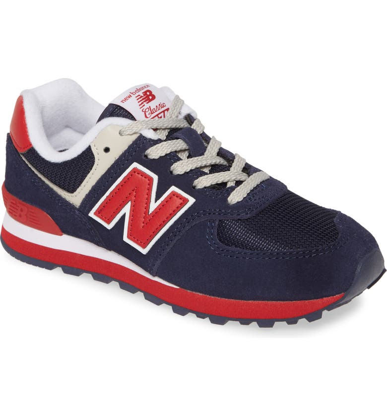 NEW BALANCE '574 Classic' Sneaker, Main, color, NAVY/ RED