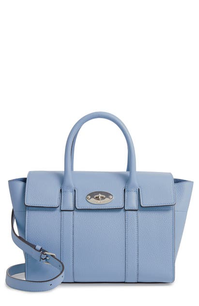 8471aa00acf Mulberry Small Bayswater Leather Satchel - Grey In D159 Pale Slate ...