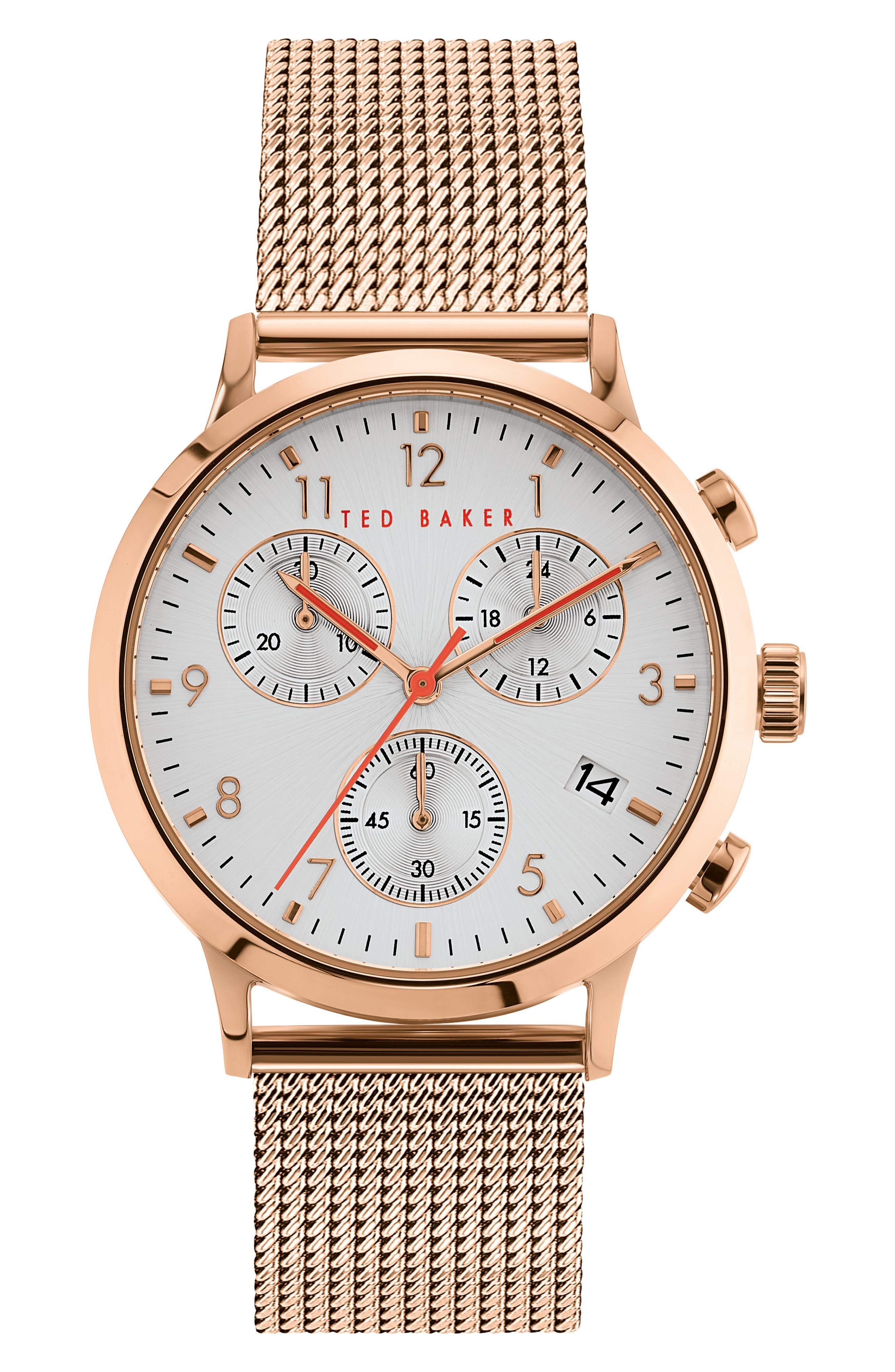 Image of Ted Baker London Men's Cosmop Mesh Bracelet Watch, 41mm