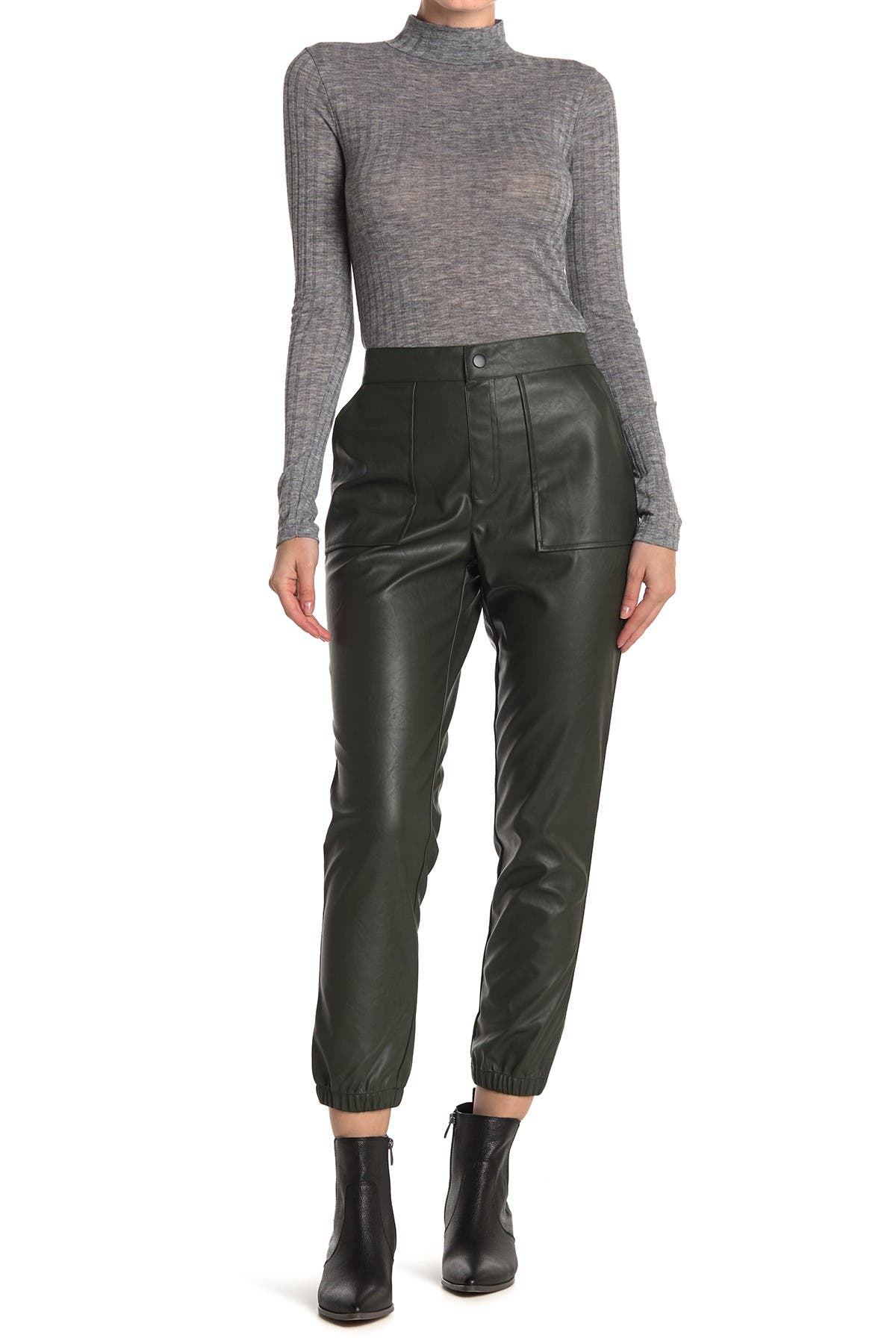Image of MAUBY Faux Leather Joggers