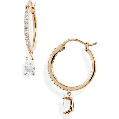 Nadri First Kiss Small Hoop Earrings