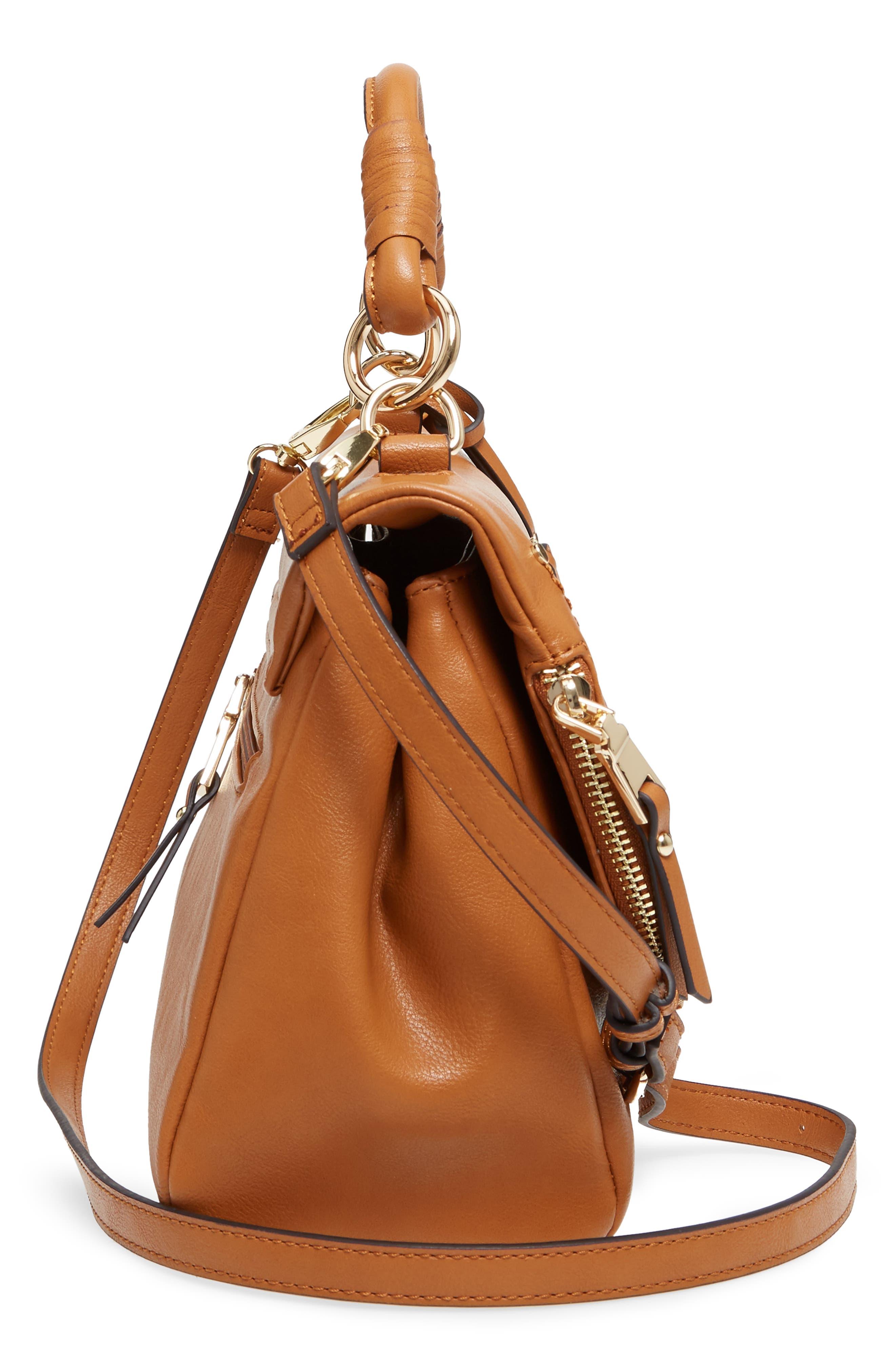 ,                             Top Handle Faux Leather Crossbody Bag,                             Alternate thumbnail 11, color,                             230