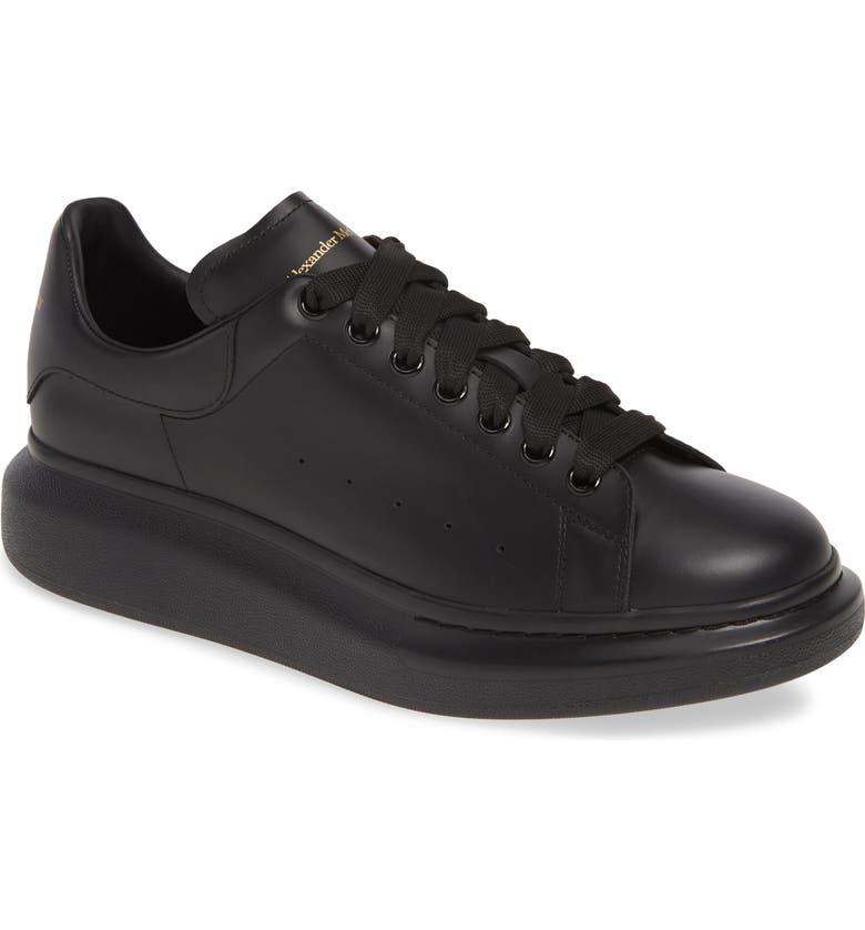 ALEXANDER MCQUEEN Oversize Low Top Sneaker, Main, color, BLACK