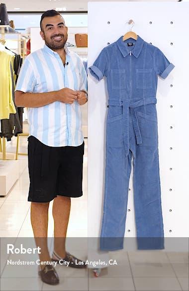 Belted Corduroy Jumpsuit, sales video thumbnail