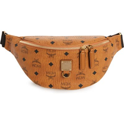 Mcm Fursten Visetos Small Belt Bag - Brown
