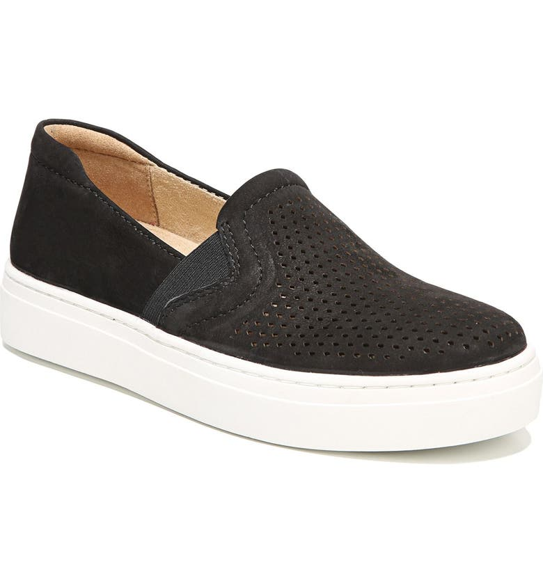 NATURALIZER Carly Slip-On Sneaker, Main, color, BLACK SUEDE