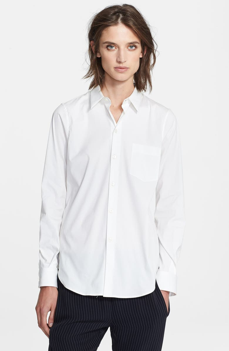 THEORY 'Perfect' Cotton Shirt, Main, color, White
