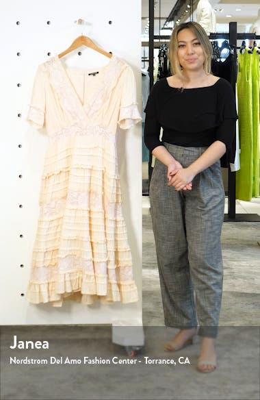 Babette Ruffle Lace Midi Dress, sales video thumbnail