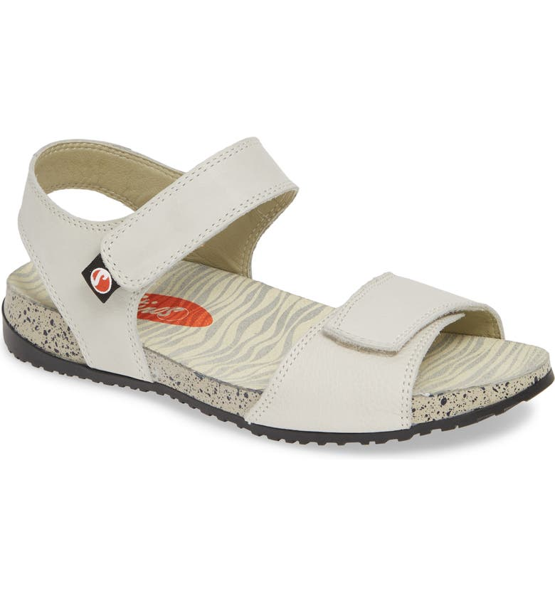 SOFTINOS BY FLY LONDON Kiva Sandal, Main, color, WHITE LEATHER