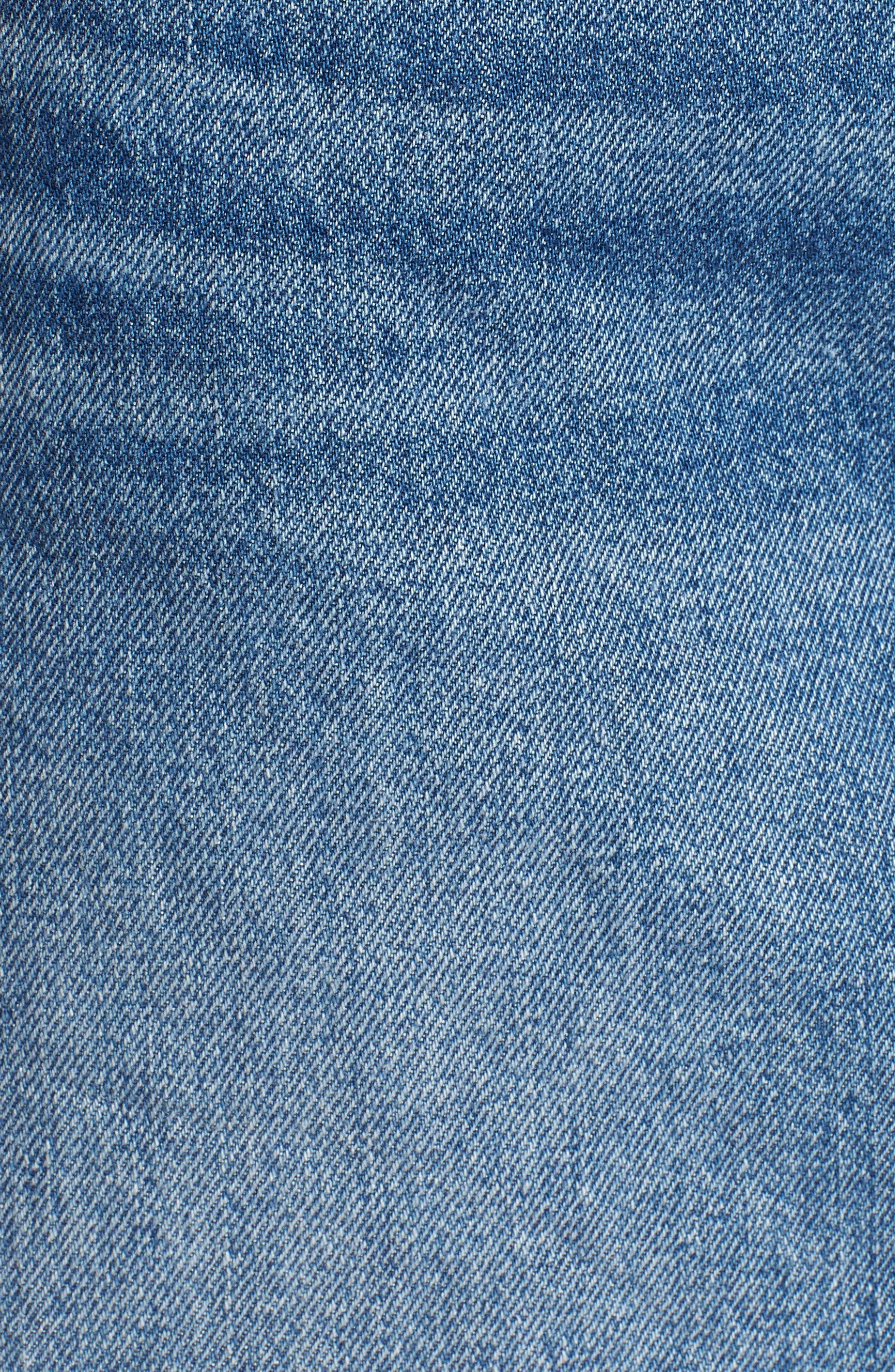 ,                             Deconstructed Denim Skirt,                             Alternate thumbnail 6, color,                             MIDDLE MAN