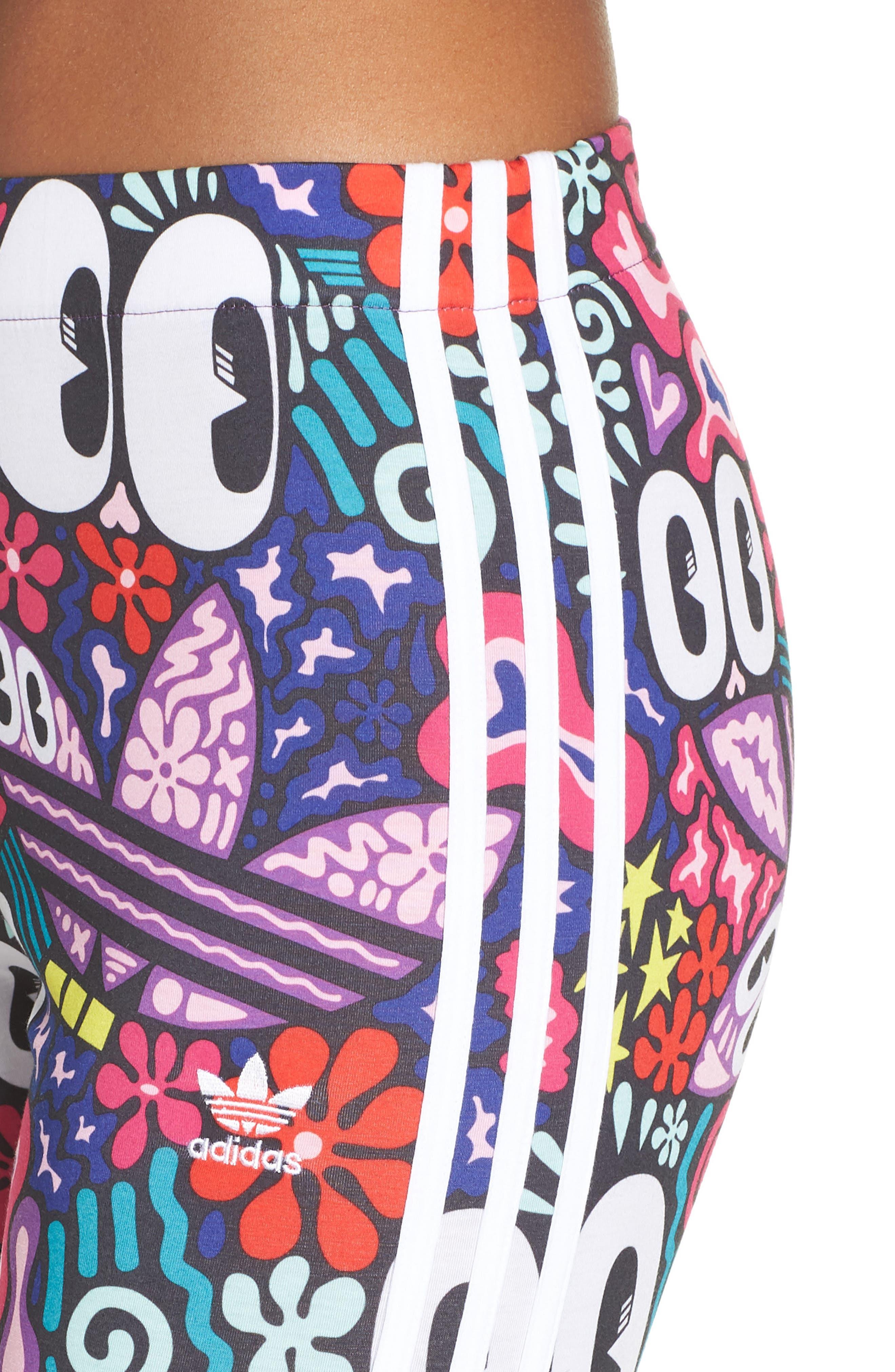 ,                             adidas 3-Stripes Tights,                             Alternate thumbnail 12, color,                             003