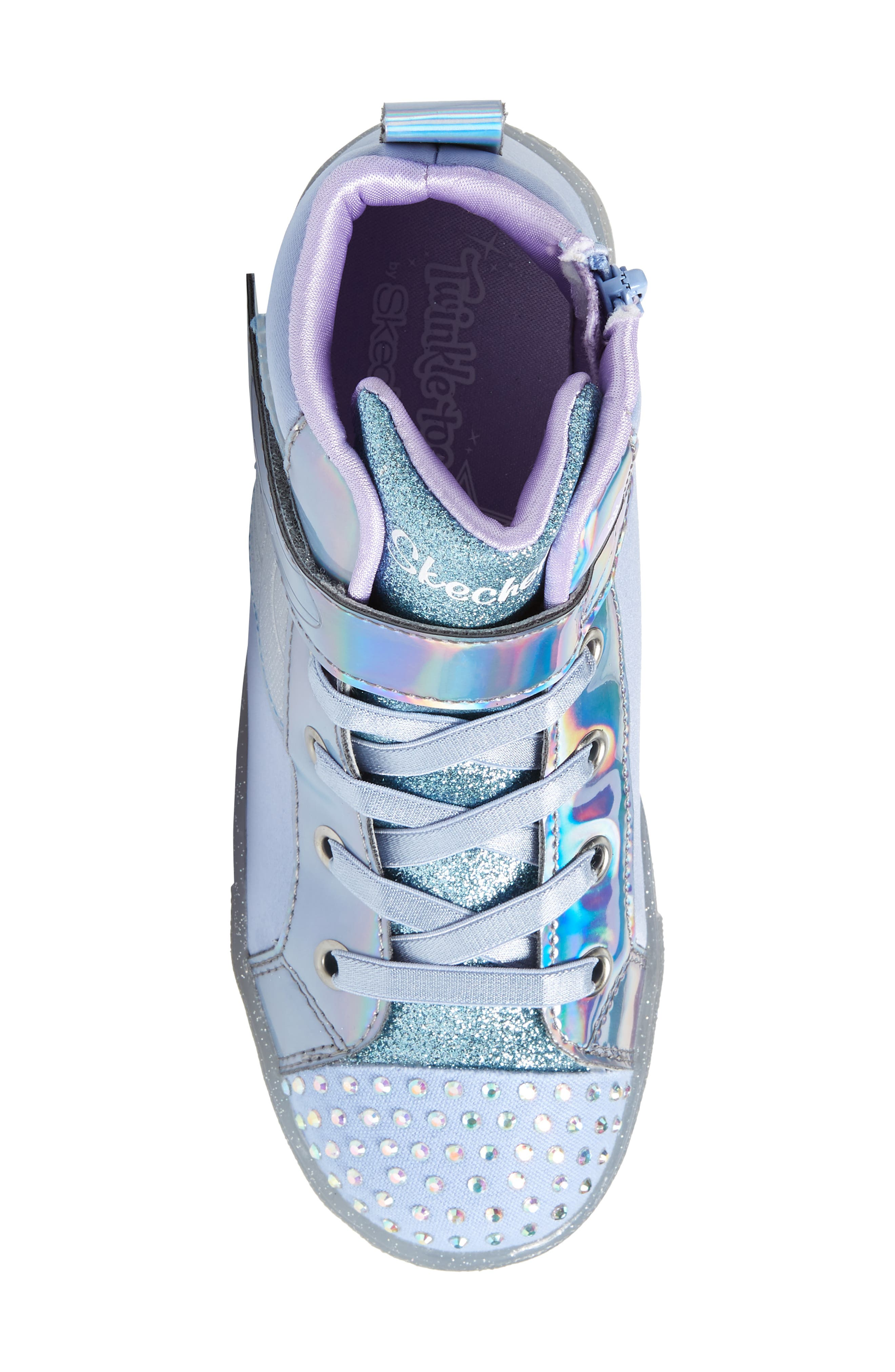 ,                             Twinkle Toes Light-Up Sneaker,                             Alternate thumbnail 5, color,                             PERIWINKLE