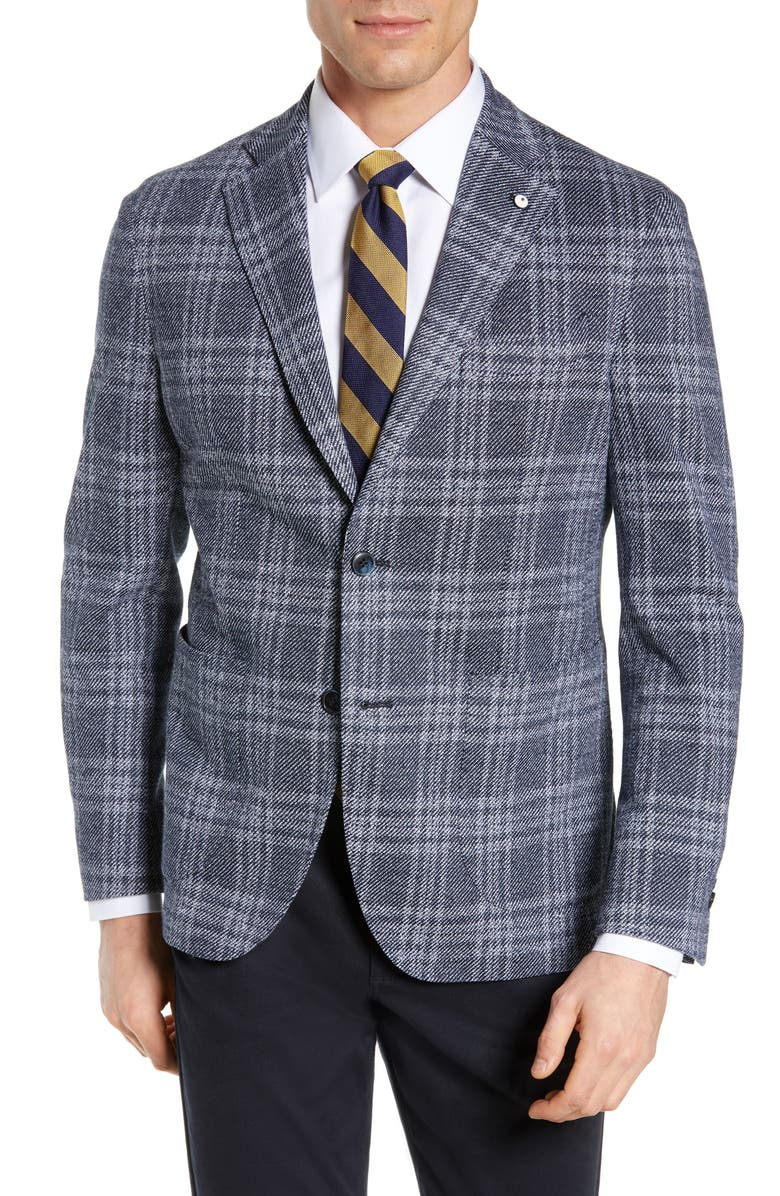 L.B.M. 1911 Trim Fit Plaid Linen & Cotton Sport Coat, Main, color, 410