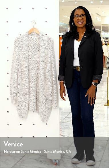 Longline Eyelash Chenille Cardigan, sales video thumbnail