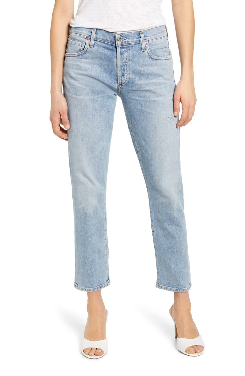 CITIZENS OF HUMANITY Emerson High Waist Slim Boyfriend Jeans, Main, color, EVER