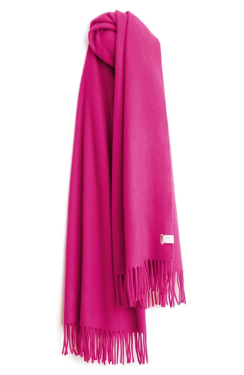 RAG & BONE Classic Wool Scarf, Main, color, BERRY
