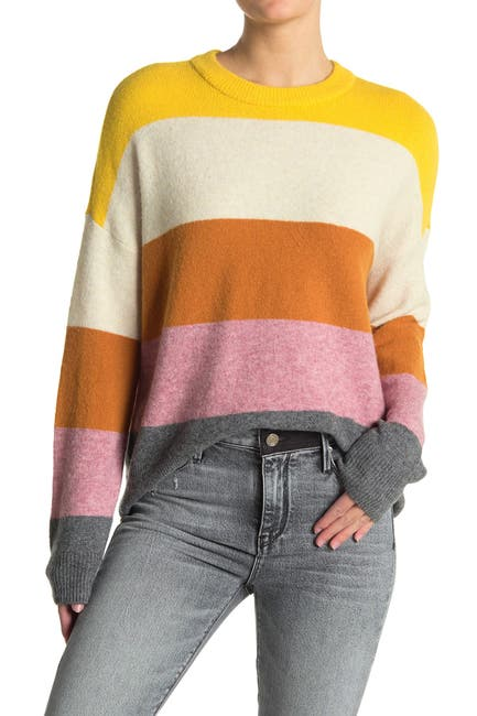 Image of Madewell Crofton Stripe Pullover Sweater