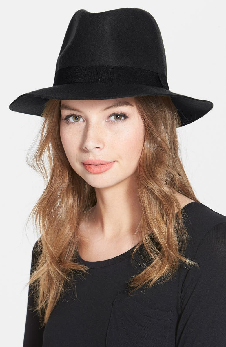 DAVID & YOUNG Felt Fedora, Main, color, 001