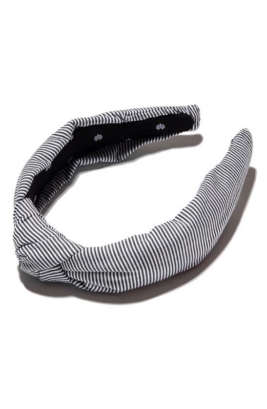 LELE SADOUGHI Headbands SEERSUCKER KNOTTED HEADBAND
