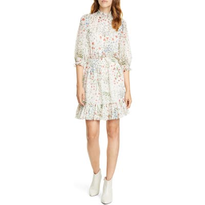 Joie Shima Smocked Details Dress, White