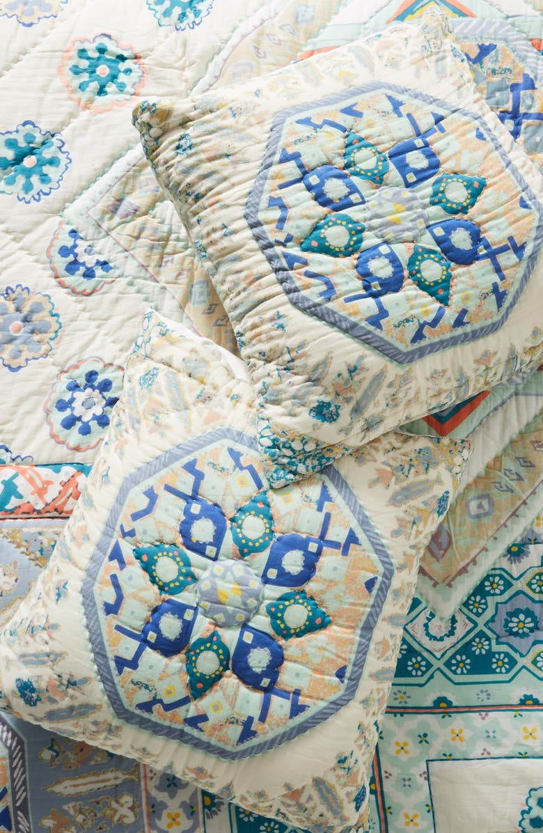 ANTHROPOLOGIE Ponsonby Quilted Euro Sham, Main, color, 900