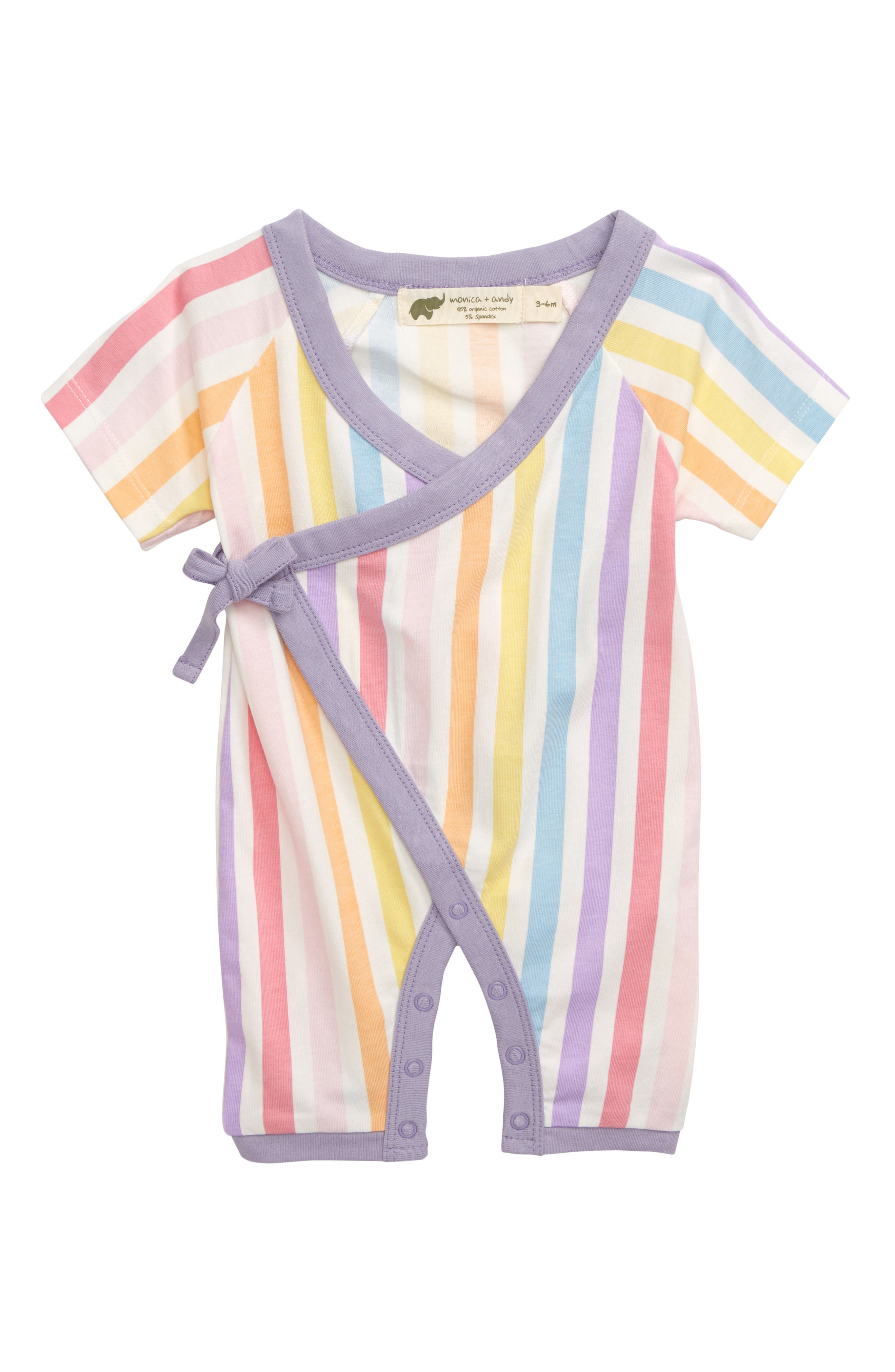 Infant Girls Monica  Andy Sweet Baby Romper Size 03 M  White