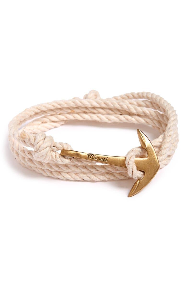 MIANSAI Brass Anchor Wrap Bracelet, Main, color, 250