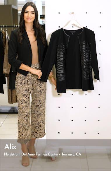 Faux Leather Knit Jacket, sales video thumbnail
