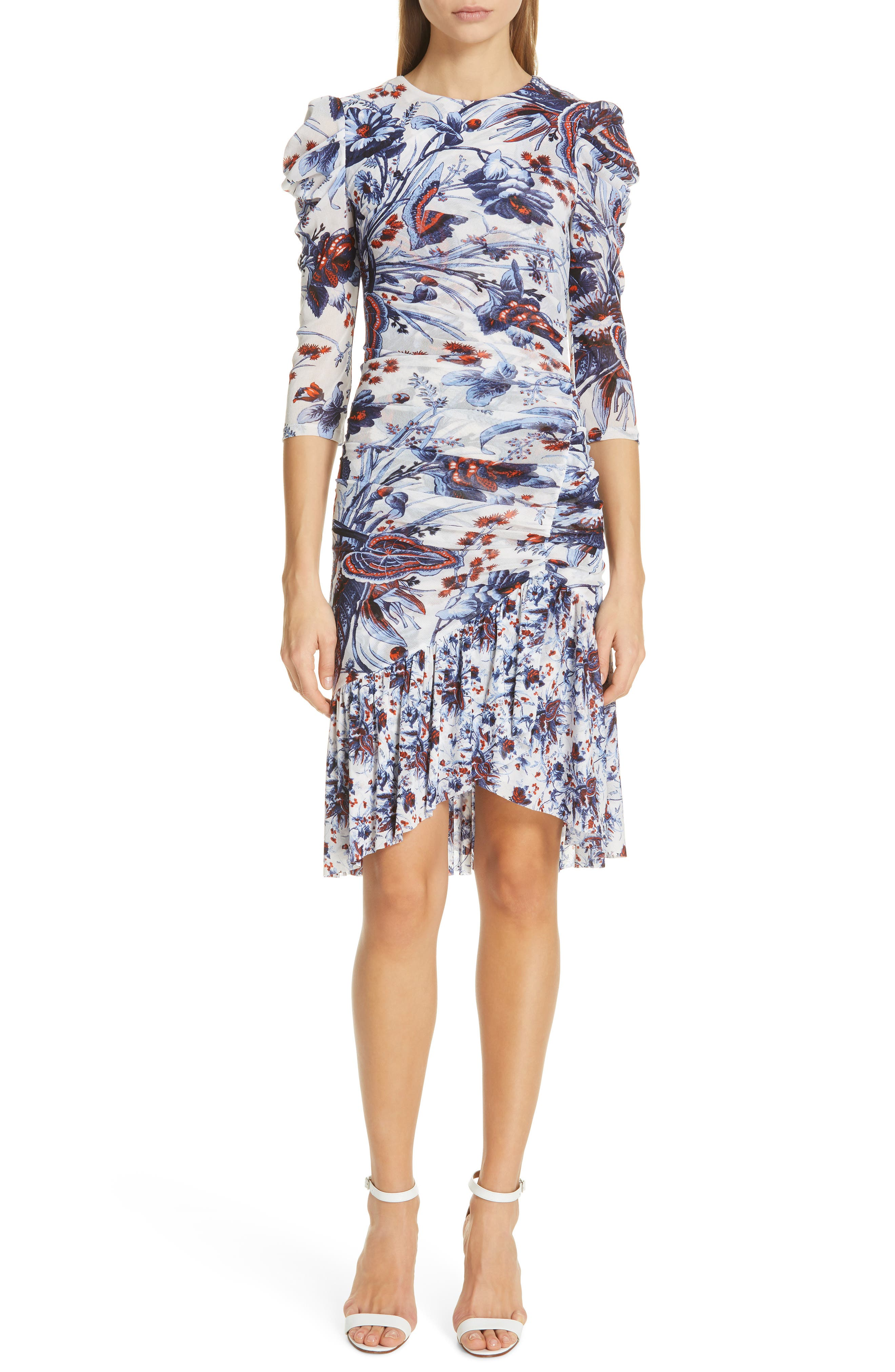 Dvf Lila Floral Print Dress, Ivory