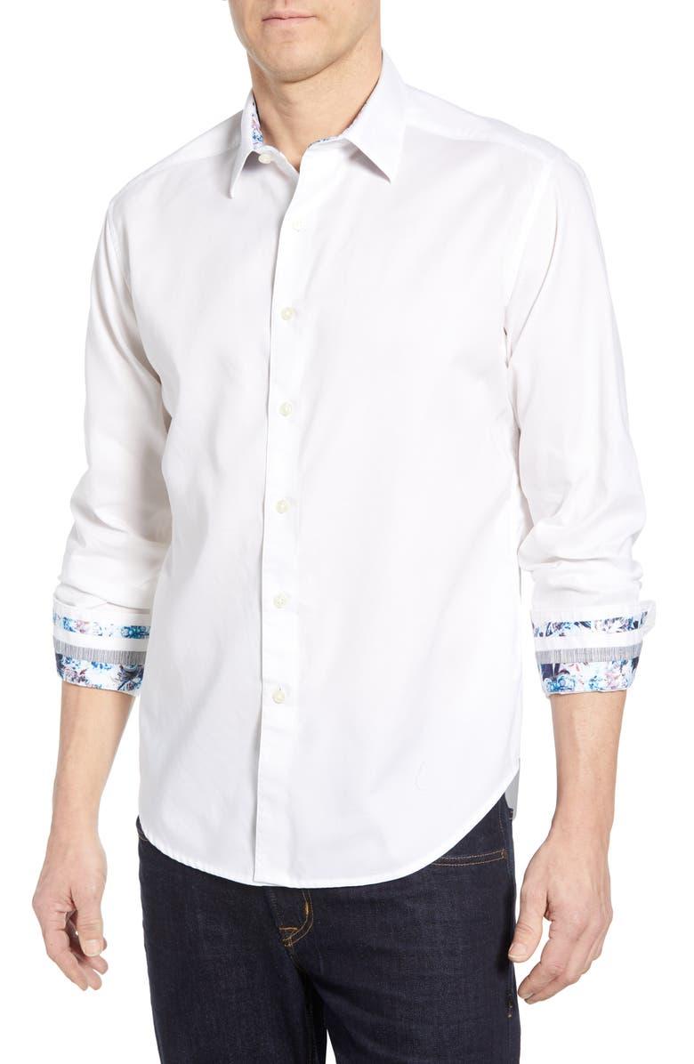 ROBERT GRAHAM Rutherford Classic Fit Sport Shirt, Main, color, 100