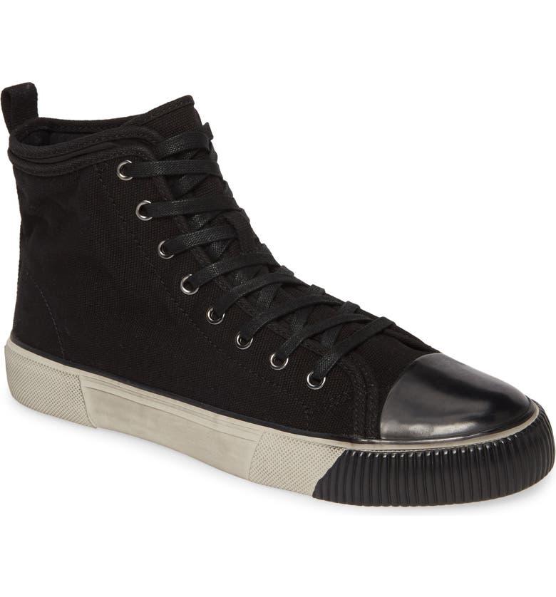 ALLSAINTS Rigg Sneaker, Main, color, BLACK