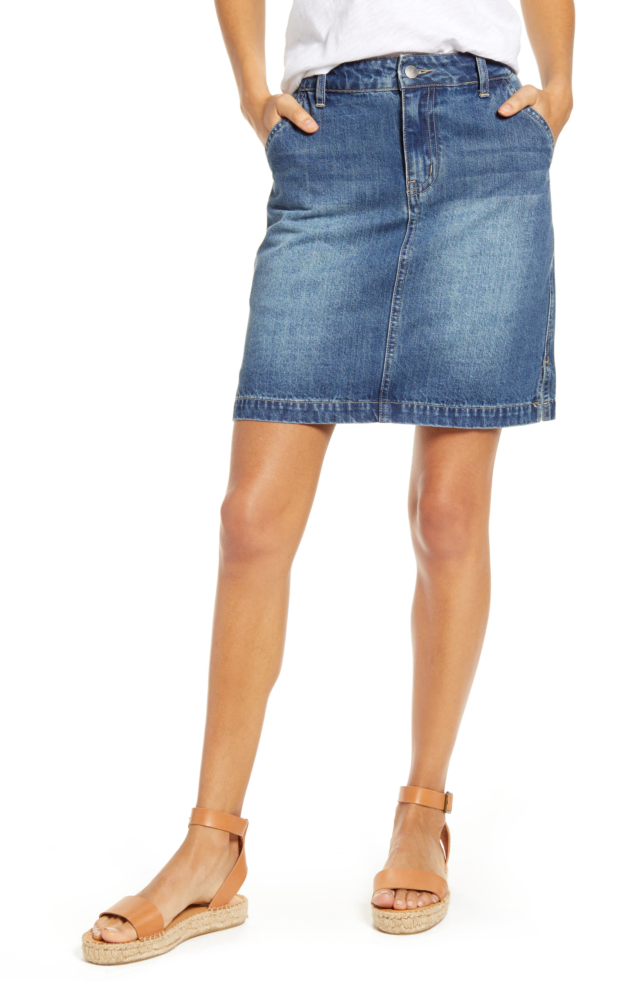 Gibson x Hi Sugarplum! Positano Denim Skirt (Regular & Petite)
