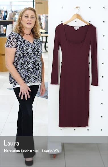 Ribbed Long Sleeve Midi Dress, sales video thumbnail