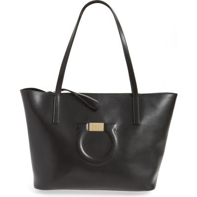 Salvatore Ferragamo City Quilted Gancio Leather Tote -