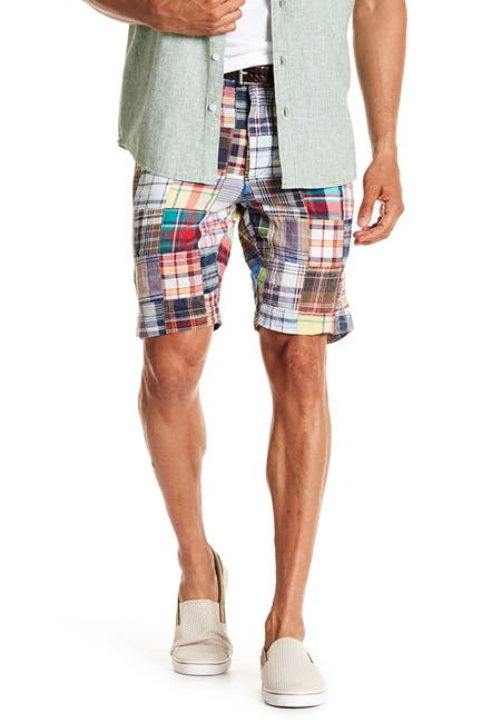 Image of Vintage 1946 Patch Madras Shorts
