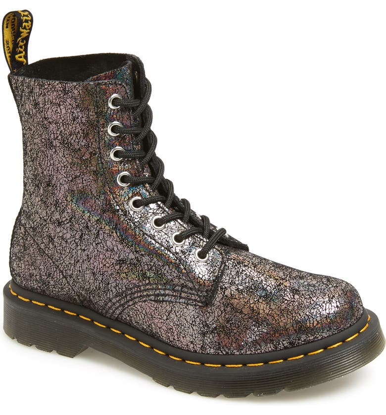 DR. MARTENS 1460 Pascal Lace-Up Boot, Main, color, GUNMETAL