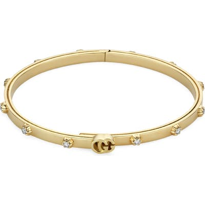 Gucci Running Extra Small 18K Gold Diamond Bracelet