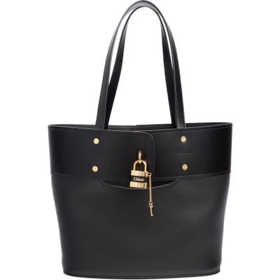 Chloe Aby Small Leather Tote - Black