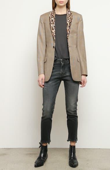Mixed Print Shawl Collar Jacket, video thumbnail