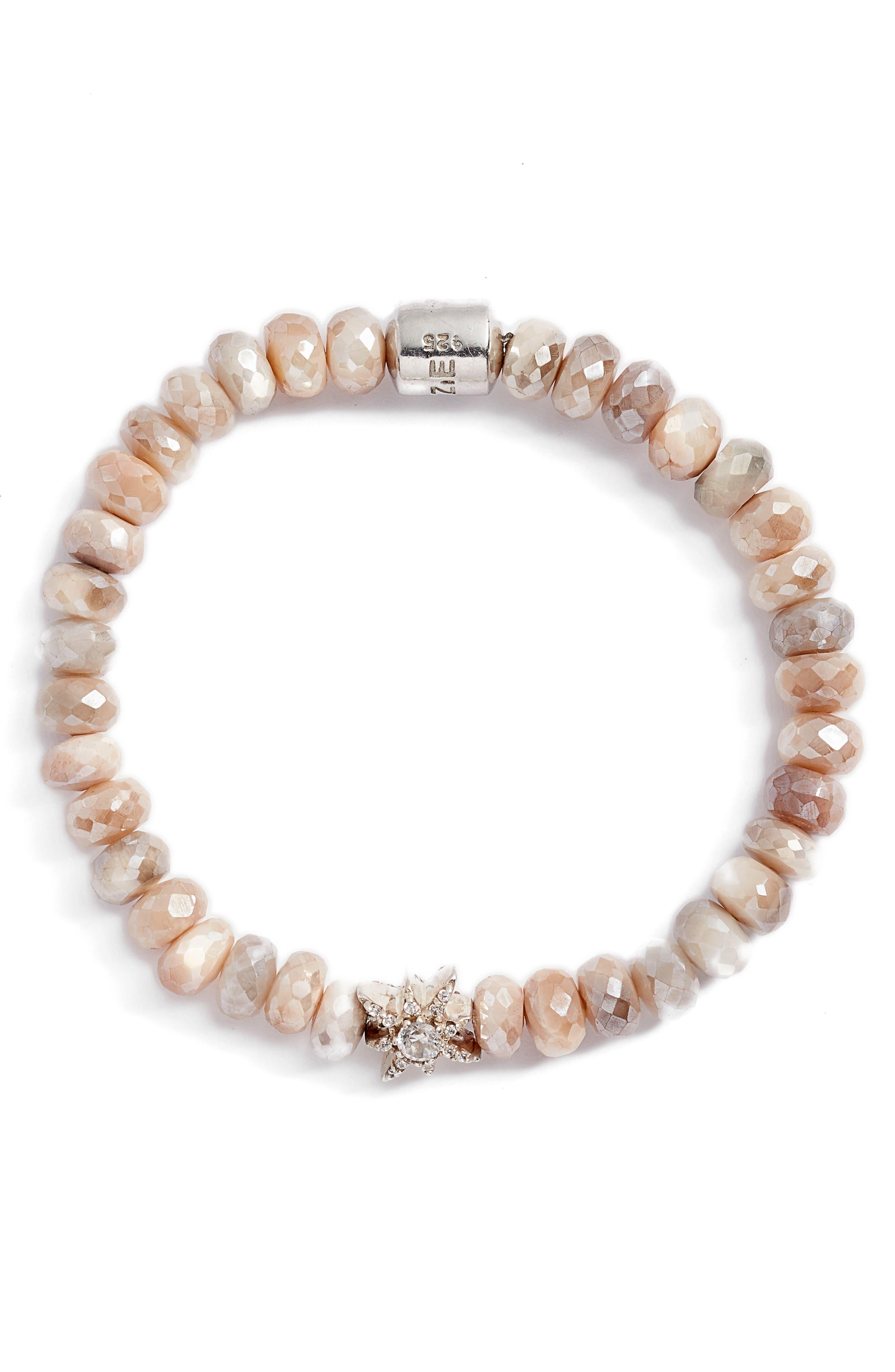 Boheme Star Moonstone Bead Bracelet