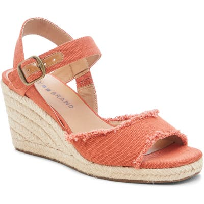 Lucky Brand Mindra Espadrille Wedge Sandal, Orange