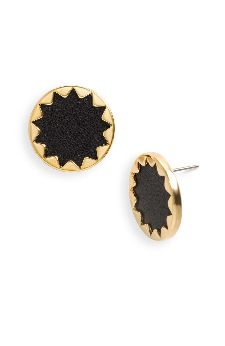 HOUSE OF HARLOW 1960 Sunburst Button Earrings, Main, color, 001
