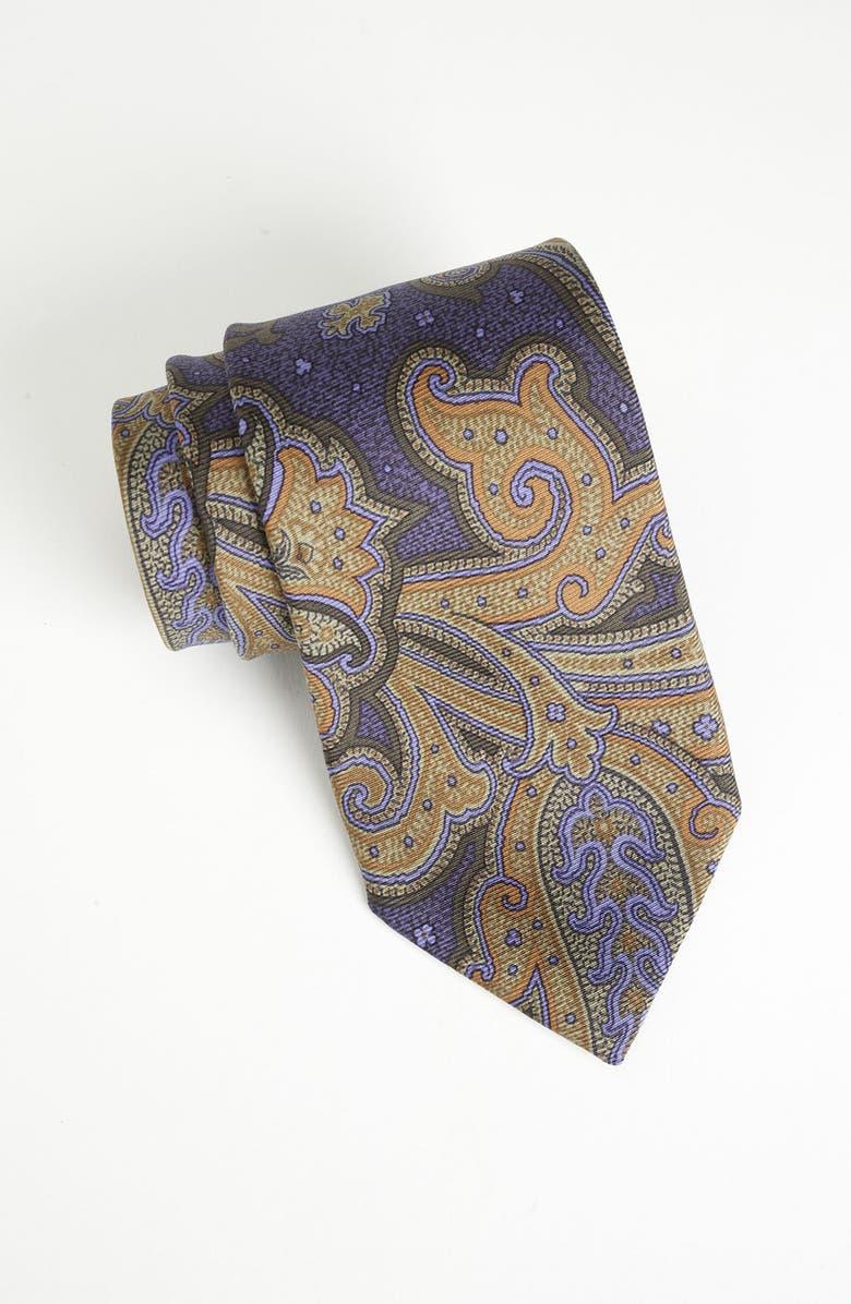 ETRO Woven Silk Tie, Main, color, 500