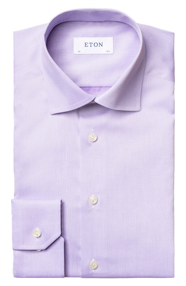 ETON Slim Fit Textured Solid Dress Shirt, Main, color, 500