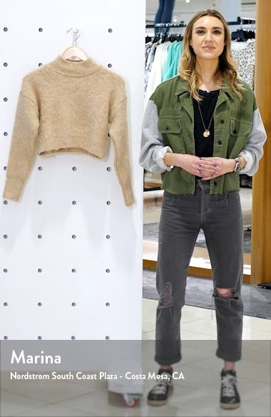 Super Crop Brushed Sweater, sales video thumbnail