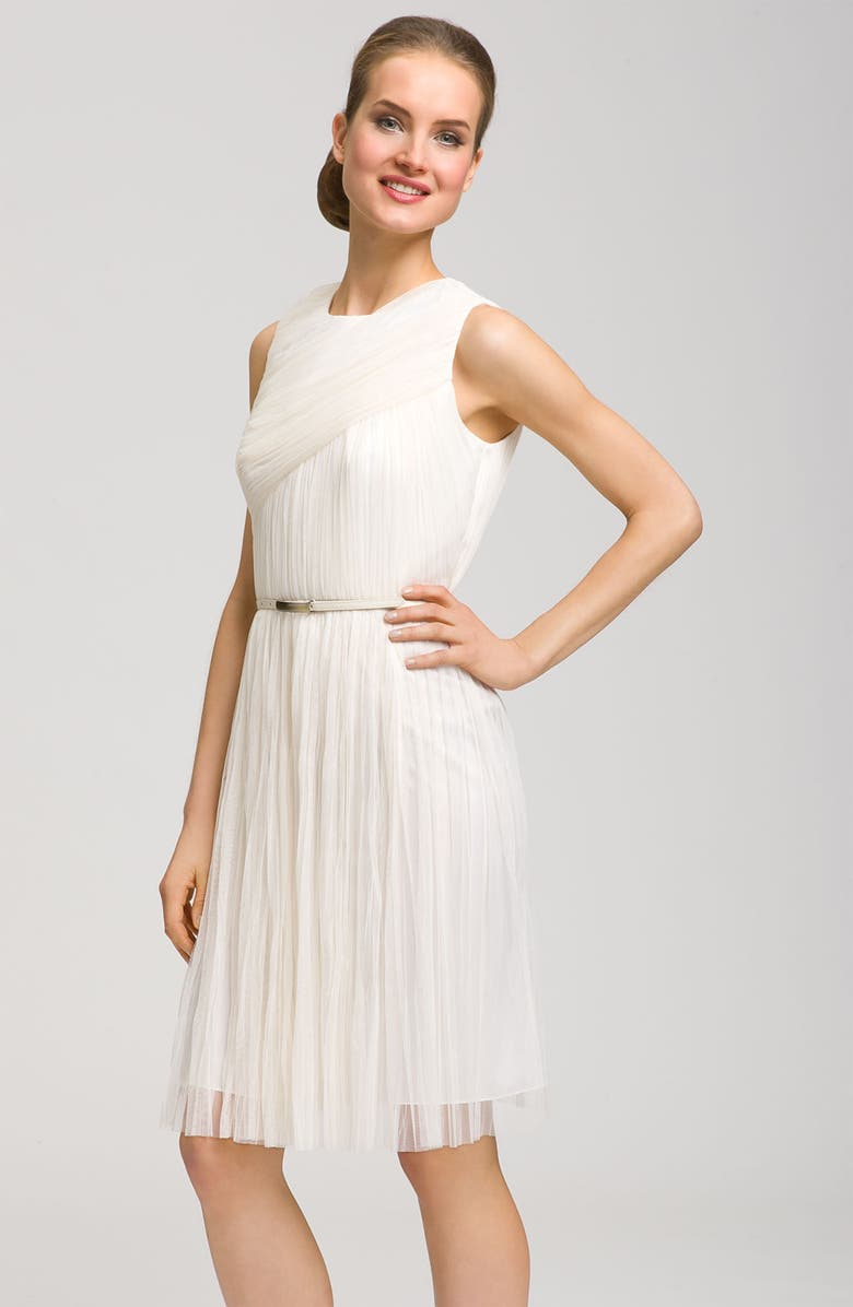 ADRIANNA PAPELL Pleat Dress, Main, color, 277